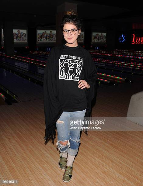 Shenae Grimes attends the Best Buddies International's 'Bowling For Buddies' Benefit presented by Audi at Lucky Strikes on February 21 2010 in...