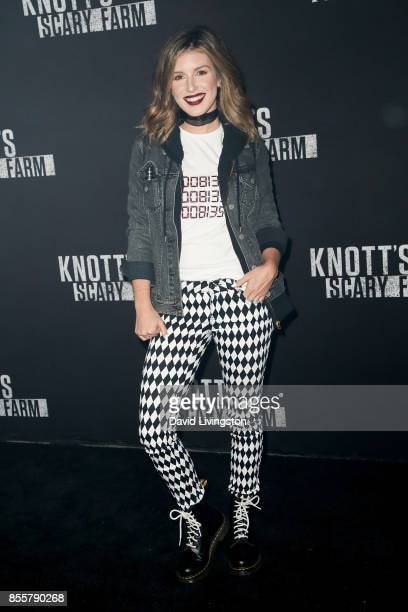 Shenae Grimes attends the Knott's Scary Farm and Instagram's Celebrity Night at Knott's Berry Farm on September 29 2017 in Buena Park California