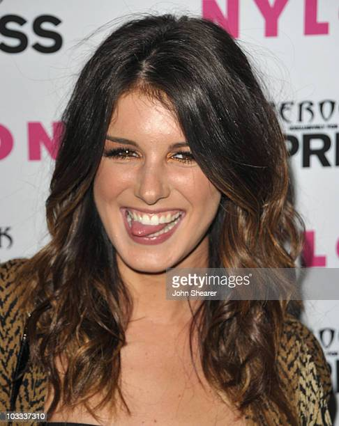 Shenae Grimes attends the Nylon Express August Denim Issue Party at The London Hotel on August 10 2010 in West Hollywood California