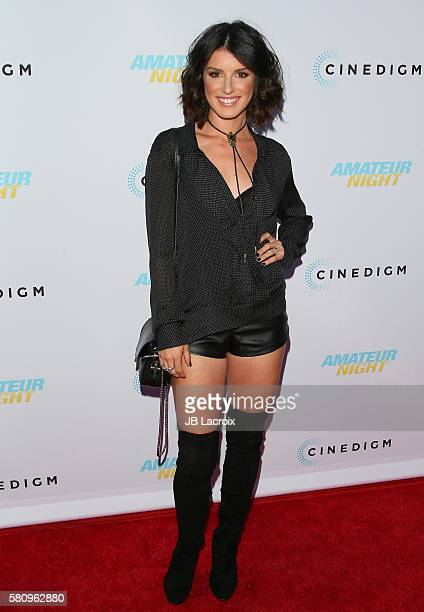 Shenae Grimes attends the premiere of Cinedigm's 'Amateur Night' on July 25 2016 in Hollywood California