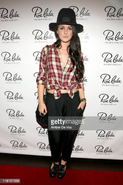 Shenae Grimes attends the Rue New York City event at COOP Food Drink at Hotel Rivington on June 14 2011 in New York City