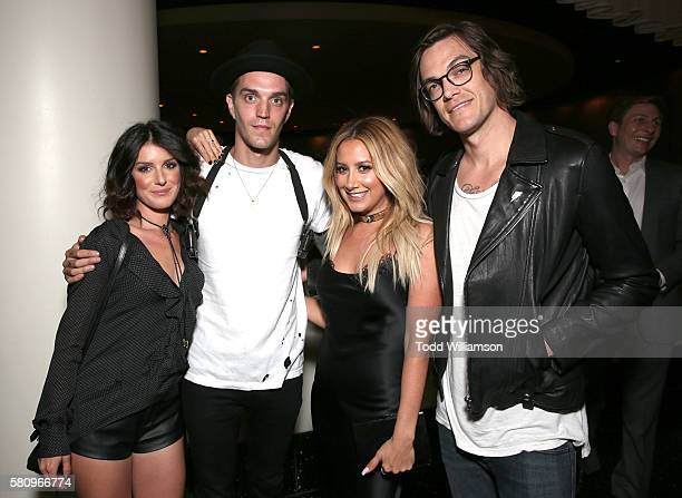 Shenae Grimes Josh Beech Ashley Tisdale and Christopher French attend the after party for the premiere of Cinedigm's 'Amateur Night' at ArcLight...