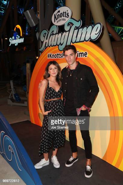 Shenae GrimesBeech and Josh Beech attend the Knott's Berry Farm kick off preview party launching new dive coaster HangTime at Knott's Berry Farm on...