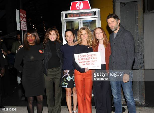 Shenee Johnson Gina L Gershon Cynthia Rowley Kyra Sedgwick Julianne Moore and Bart Freundlich attends #RejectTheNRA Campaign Launch the at The...