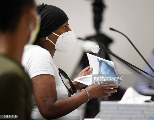 Sheneen McClain Elijah McClain's mother provides photos of Elijah while testifying before a House Finance committee in support of SB217 regarding...
