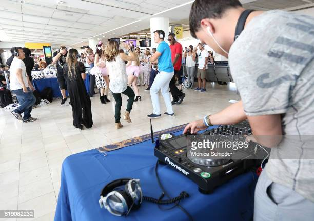 Sheni Doko performs at the Brussels Airlines JFK Gate Party To Tomorrowland on July 19 2017 in New York City