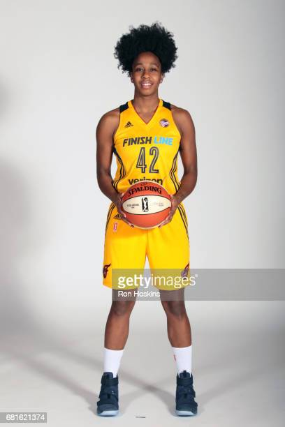 Shenise Johnson of the Indiana Feverposes for a portrait during Media Day at Bankers Life Fieldhouse on May 9 2017 in Indianapolis Indiana NOTE TO...