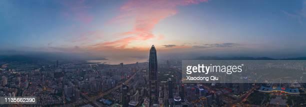 shenzhen at dusk - 深圳市 ストックフォトと画像