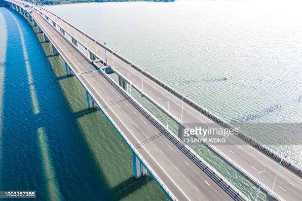shenzhen bay bridge, hong kong - empty road stock pictures, royalty-free photos & images