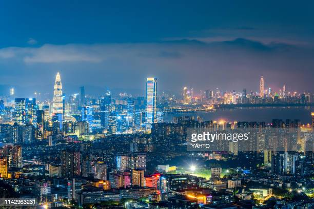 shenzhen bay city skyline/shenzhen,china. - shenzhen stock pictures, royalty-free photos & images