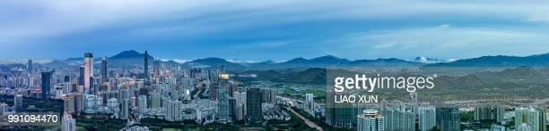 Shenzhen city and suburb of Hongkong, Skyscrapers versus farmlands