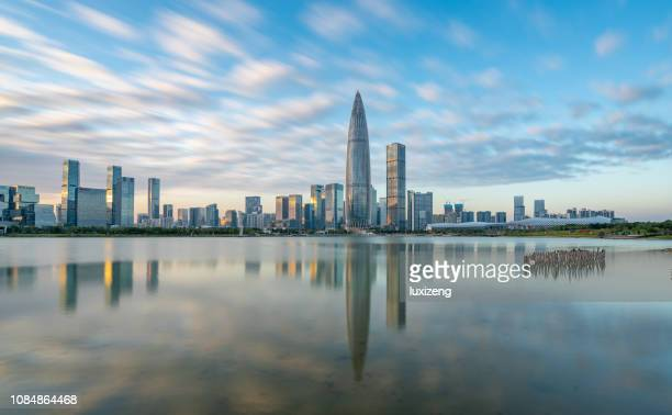 shenzhen city downtown district - guangdong province stock pictures, royalty-free photos & images