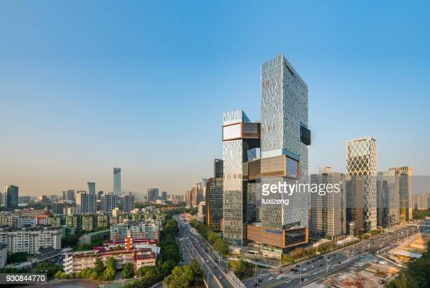 shenzhen city downtown district - shenzhen stock pictures, royalty-free photos & images