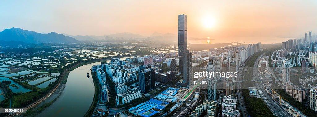 Shenzhen city skyline in China : Stock Photo