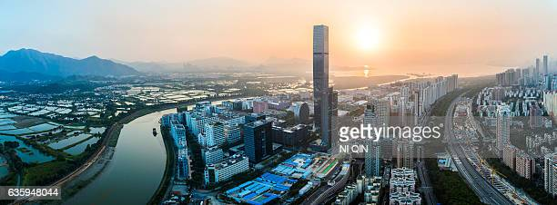 Shenzhen city skyline in China