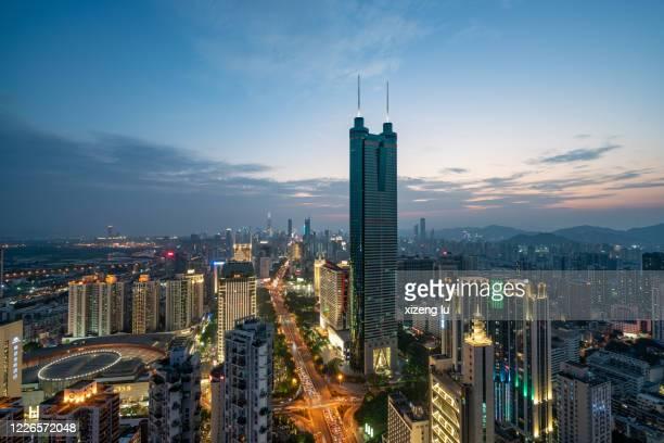 shenzhen city skyline - shenzhen stock pictures, royalty-free photos & images