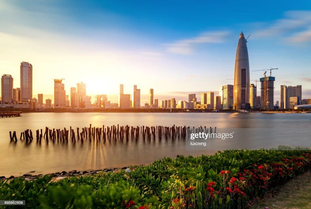 Shenzhen city skyline : Stock Photo