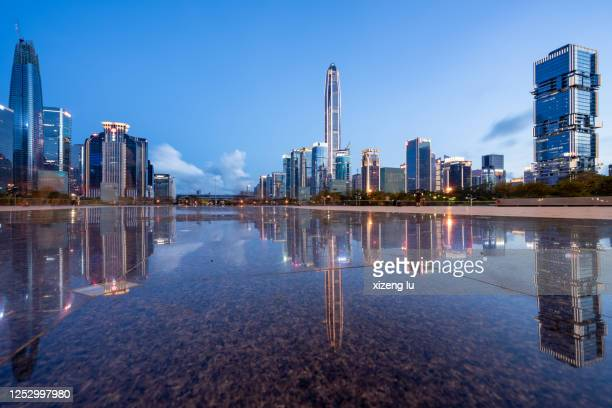 shenzhen finance district - shenzhen stock pictures, royalty-free photos & images