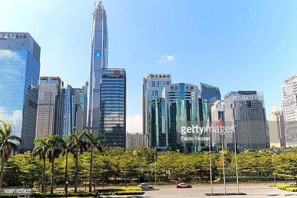 Shenzhen skyline as seen from the Stock Exchange building