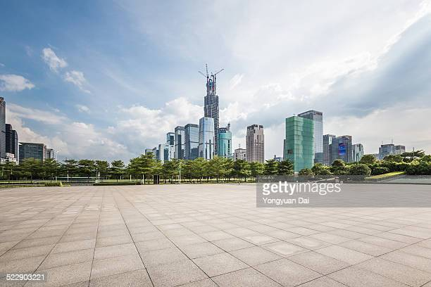 shenzhen skyline - courtyard stock pictures, royalty-free photos & images
