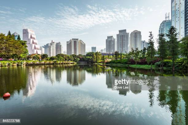 shenzhen skyline - shenzhen stock pictures, royalty-free photos & images