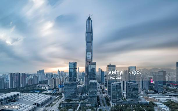 shenzhen skyline - guangdong province stock pictures, royalty-free photos & images