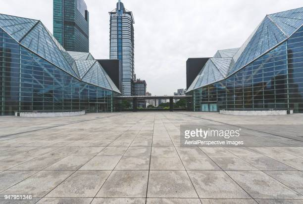 shenzhen skyscraper and skyline - courtyard stock pictures, royalty-free photos & images