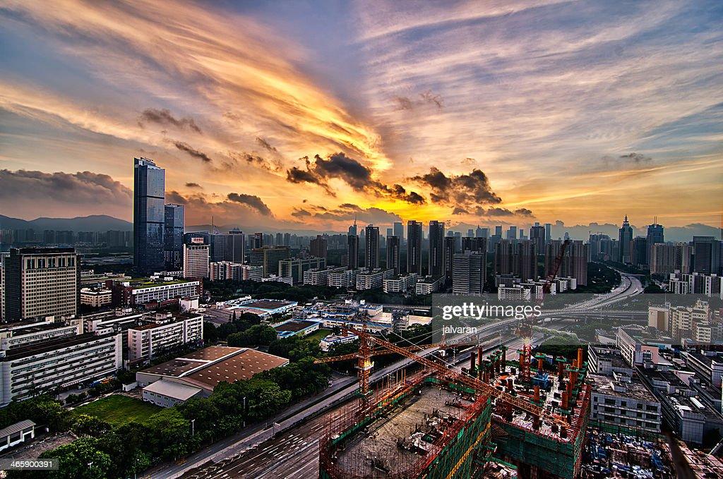 Shenzhen Sunrise : Stock Photo