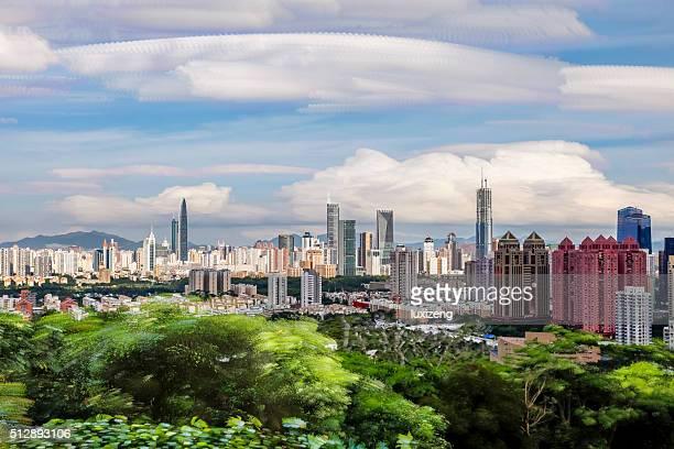 Shenzhen Städtisches Motiv
