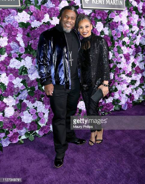 Shep and Dr Shalona Crawford attend The Griot Gala Oscars After Party 2019 at The District by Hannah An on February 24 2019 in Los Angeles California