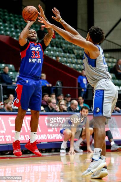 Shep Garner of the Grand Rapids Drive shoots against the Texas Legeneds on December 12 2018 at DeltaPlex Arena in Grand Rapids Michigan NOTE TO USER...