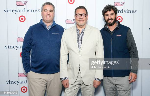 Shep Murray Executive Vice President of Target Mark Tritton and Ian Murray attend Vineyard Vines for Target Launch at Brookfield Place on May 09 2019...