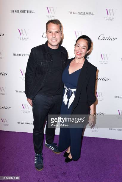 Shepard and Amanda Fairey attend Visionary Women Honors Demi Moore in Celebration of International Women's Day on March 8 2018 in Beverly Hills...