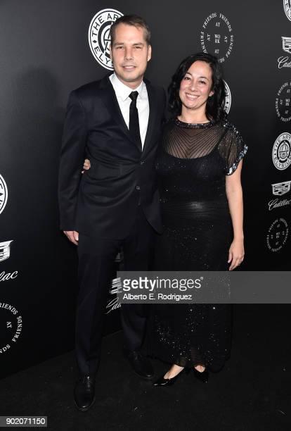 Shepard Fairey and Amanda Fairey at The Art Of Elysium's 11th Annual Celebration with John Legend at Barker Hangar on January 6 2018 in Santa Monica...