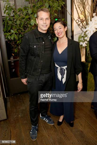 Shepard Fairey and Amanda Fairey attend as Visionary Women honors activist and actress Demi Moore in celebration of International Women's Day on...