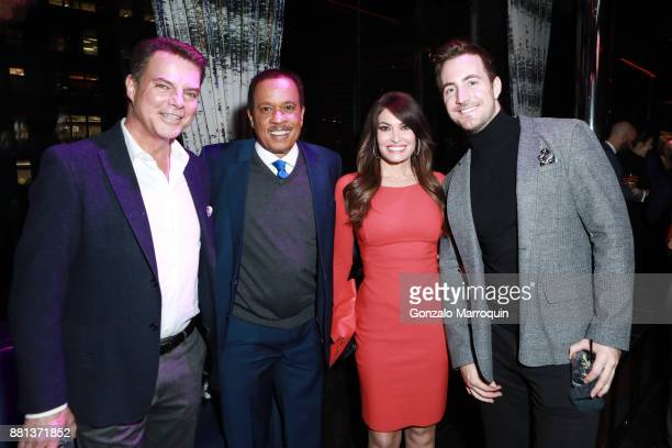 Shepard Smith Juan Williams Kimberly Guilfoyle and Gio Graziano during the Arthur Aidala Birthday Party Holiday Party at PHD Rooftop Lounge at Dream...