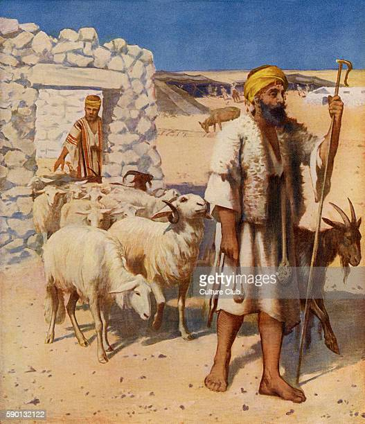 Shepherd and sheepfold 1913 illustration based on travel in the Holy Land