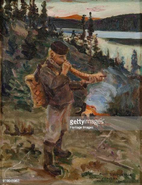 Shepherd Boy from Paanajärvi 1917 Private Collection