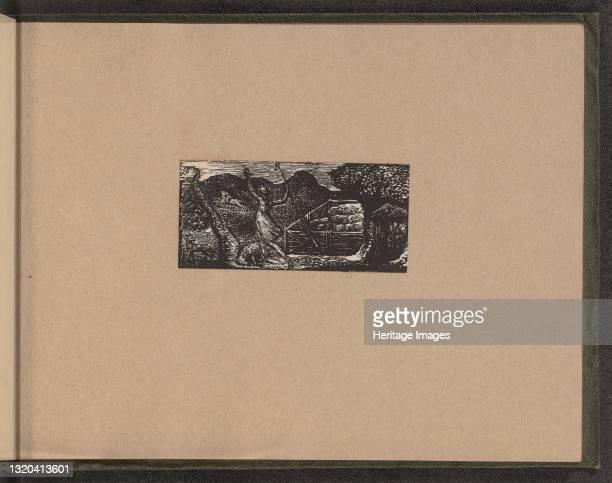 Shepherd Chases away Wolf, 1821. Artist William Blake.