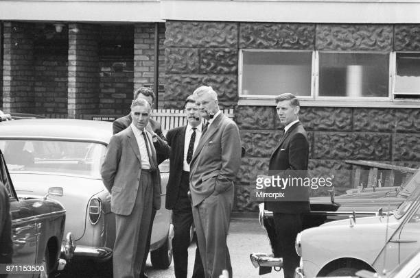 Shepherd's Bush Murders August 1966 Our Picture Shows Detectives outside Shepherd's Bush Police Station 14th August 1966