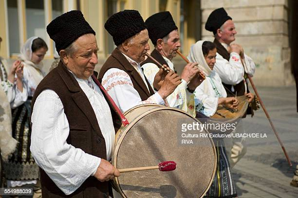shepherds festival, sibiu, romania, europe - sibiu stock photos and pictures