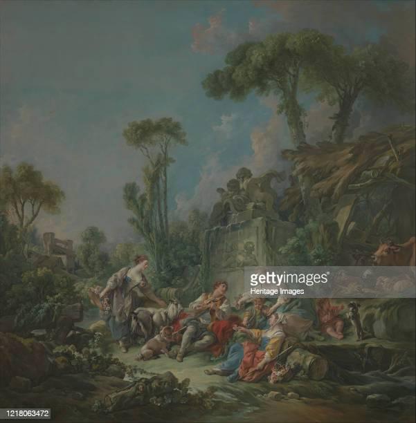 Shepherd's Idyll 1768 Artist Francois Boucher