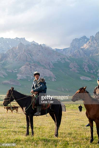 Shepherds in the Alay Valley in southern Kyrgyzstan. Sitting over 2000 meters and covered in snow in winter, in summer the transhumance Kyrgyz move...