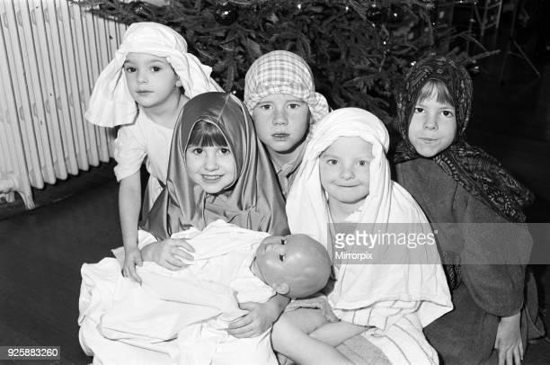 Shepley First School prepare for their Nativity Play 9th December 1991