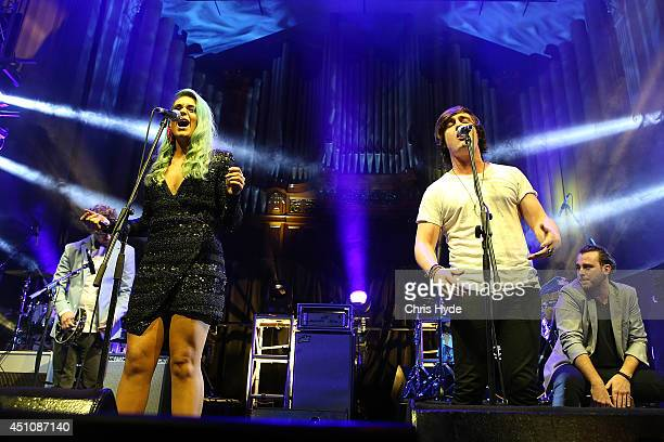 Sheppard perform during the APRA Awards at Brisbane City Hall on June 23 2014 in Brisbane Australia