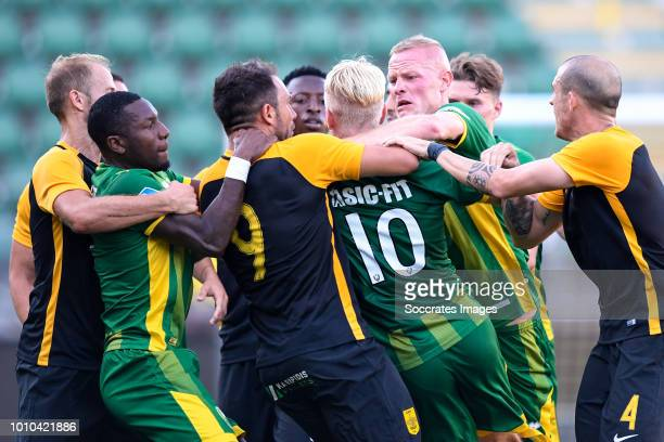 Sheraldo Becker of ADO Den Haag Thomas Nazlidis of Aris Thessaloniki Robin Polley of ADO Den Haag Lex Immers of ADO Den Haag Tom Beugelsdijk of ADO...