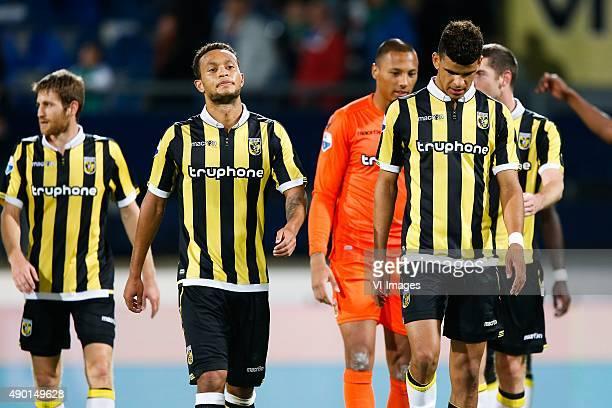 Sheran Yeini of Vitesse Lewis Baker of Vitesse goalkeeper Eloy Room of Vitesse Dominic Solanke of Vitesse Arnold Kruiswijk of Vitesse during the...