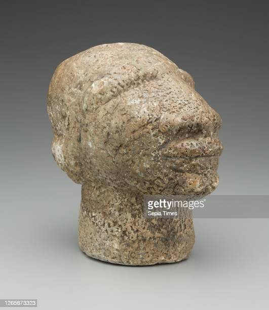 Sherbro, African, Head, 16th/17th Century, Soapstone, 9 3/8 x 6 x 9 3/4 in. .