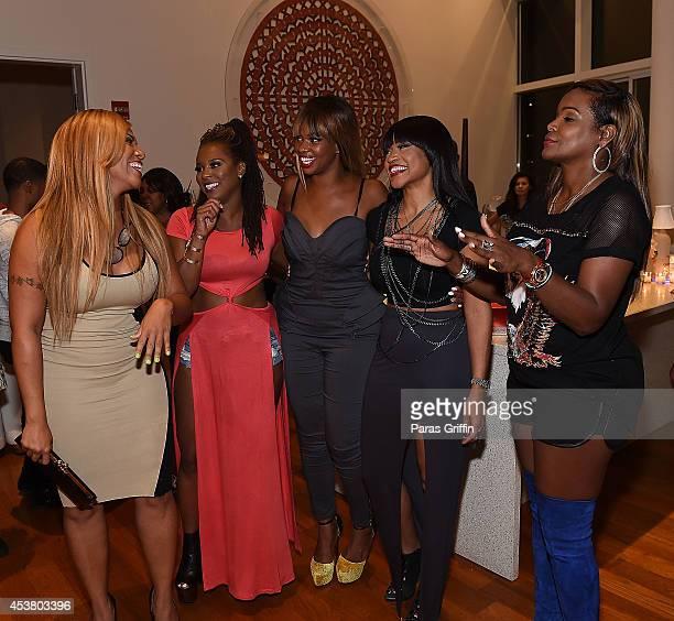 Sheree Buchanan Torrei Hart Christina Johnson Monyetta Shaw and Tameka Raymond attend the Atlanta Exes Private Premiere Viewing Party at 10 Terminus...