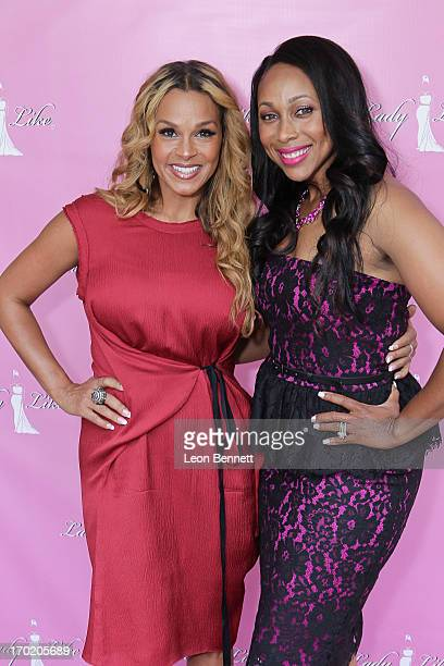 Sheree Fletcher and Leah Cher Pump arrives at the Women of Excellence Awards at Luxe Hotel on June 8 2013 in Los Angeles California